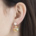 Alternate Image For Floral Orb Through & Through Earring