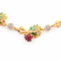 Alternate Image For Wild Berry Statement Necklace