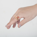 Alternate Image For Cherry Blossom Open Ring - Gold