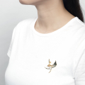 Alternate Image For Swallow Brooch - Rhodium