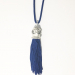 Alternate Image For Tiger Tassel Head Necklace Blue