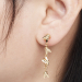 Alternate Image For Bee Drop Link Earrings - Gold