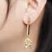 Alternate Image For The Evelyn Edit Crystal Drop Earrings - Large