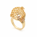 Alternate Image For Bee & Honeycomb Floral Orb Ring - Gold