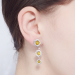 Alternate Image For Daisy Chain Earrings - Rhodium