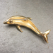 Alternate Image For Dolphin Brooch - Gold