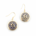 Alternate Image For Filigree Disc Earrings - Lapis