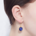 Alternate Image For Filigree Hexagon Studs - Lapis