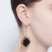 Alternate Image For Statement Filigree Earrings - Onyx