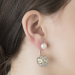 Alternate Image For Daisy & Pearl Through Earrings - Rhodium