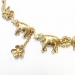 Alternate Image For Elephant Family Necklace (Gold)