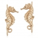 Alternate Image For Seahorse Climber Earrings Gold