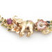 Alternate Image For Elephant Floral Statement Necklace - Gold