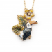 Alternate Image For Tropical Toucan Flower Pendant - Gold