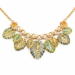 Alternate Image For Tropical Leaves Necklace - Gold