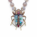 Alternate Image For The Bejewelled Beetle Statement Necklace