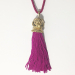 Alternate Image For Tiger Tassel Head Necklace Pink