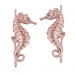 Alternate Image For Seahorse Climber Earrings Rose Gold