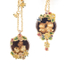 Alternate Image For Potting Shed Statement Earrings- Gold