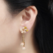 Alternate Image For Cherry Blossom Statement Earring - Gold