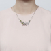 Alternate Image For Swallow Rose Necklace - Rhodium