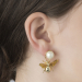Alternate Image For Queen Bee Pearl Drop Earring