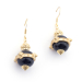 Alternate Image For Lion Orb Onyx Earrings