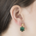 Alternate Image For Mini Filigree Disc Earrings - Malachite