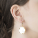 Alternate Image For Filigree Disc Earrings - Mother of Pearl