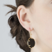 Alternate Image For Filigree Disc Earrings - Onyx