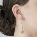 Alternate Image For Mini Filigree Morocco Earrings - Gold