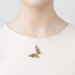 Alternate Image For Butterfly Statement Pendant - Mint