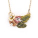 Alternate Image For Tropical Triple Flower Pendant - Gold