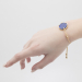 Alternate Image For Filigree Disc Bracelet - Lapis